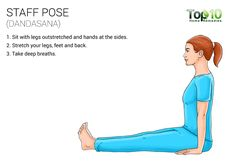 staff yoga pose (dandasana)