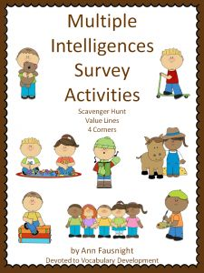 Multiple Intelligence Activities-Promotion ends at 11:59:59 CST on 8-18-2013