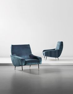 Ico Parisi; #857 Lounge Chairs for Cassina, c1958.