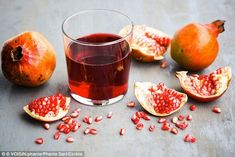DailyMail.co.uk/***HEART-- Half a glass of pomegranate juice (125ml or 4oz) and three dates a day - along with their stones - can improve heart health, according to a study