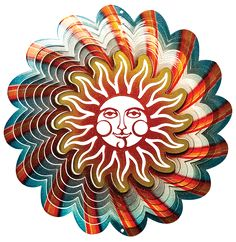 Blue Sun: Vivid Collection Spinfinity Designs Wind Spinners