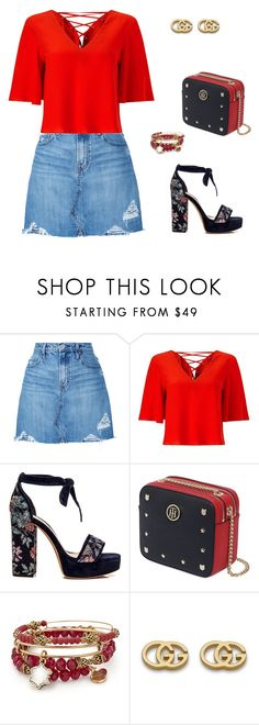 """""""natal 4"""" by caroltips ❤ liked on Polyvore featuring Nobody Denim, Miss Selfridge, Tommy Hilfiger, Alex and Ani and Gucci"""