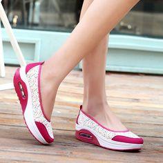 Women casual shoes hot printing breathable mesh platform women shoes
