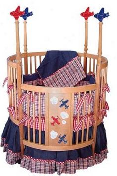 I love this crib. So perfect for a baby boy with a pilot father