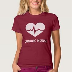 Cardiac nurse heart with ECG wave T Shirt, Hoodie Sweatshirt