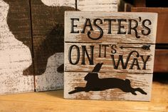 Rustic Easter sign Timeworn Treasures | Danville, PA