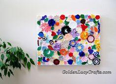 Crochet Wall Art u2013 Wall Décor? LOVE this idea. She took all her small crochet & Wall Art Mandala living room Crochet Wall Hanging crochet Wall ...