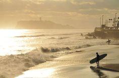 稲村ヶ崎夕景 Japanese Nature, Kamakura, Surfing, Ocean, Landscape, Beach, Water, Life, Outdoor