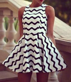 Fashion Black And White Stripe Sleeveless Dress - Stella La Moda Cute Dresses, Beautiful Dresses, Casual Dresses, Short Dresses, Summer Dresses, Dress Long, Evening Dresses, Style Noir, Mode Style