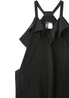 Limi Feu / Dropped Collar Sleeveless Dress