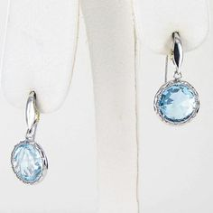 Pre-Owned Tacori 18k925 Island Rains Simply Gem Drop Earrings Sky Blue... ($370) ❤ liked on Polyvore featuring jewelry, earrings, blue, tacori earrings, drop earrings, blue drop earrings, pre owned jewelry and blue earrings