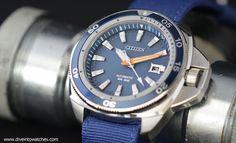 Citizen Signature Collection Grand Touring Dive Watch 300 - Blue - nato strap