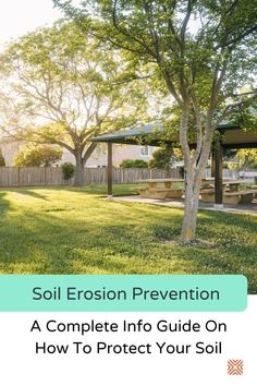 While it's impossible to stop soil erosion completely, there are some techniques to prevent it and keep your landscape safe. Follow our guide on soil erosion prevention and protect your beautiful garden. Landscape Architecture, Landscape Design, Surface Drainage, Planting Grass, Diy Projects Cans, Agricultural Land, Crop Rotation, Landscape Materials, Top Soil