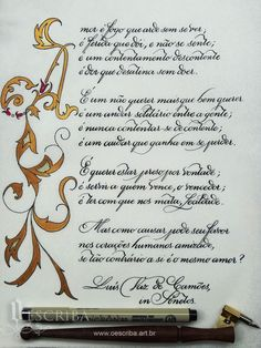 Caligrafia Artística: LETRAS CAPITULARES: UM LUXO PARA VALORIZAR SEUS TRABALHOS