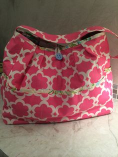 Diaper bag I made for baby Everly, July 2014
