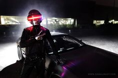 Daft Punk DeLorean Shoot by Dan Almasy, via 500px