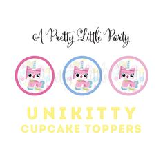 UNIKITTY Cupcake Toppers Movie Banner by aprettylittleparty Girls Lego Party, Lego Girls, Bbq Party, Party Fun, 3rd Birthday Parties, Birthday Ideas, Best Part Of Me, Cupcake Toppers, Birthday Invitations