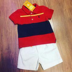 Camisa Ralph Lauren   2290 Bermuda   1490 Seminova! Pronta entrega Tamanho   9M Para 7263cf64cd284