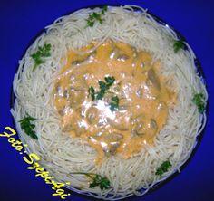 Tejfölös gomba, tésztakoszorúban Izu, Ethnic Recipes, Food, Eten, Meals, Diet