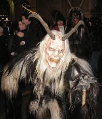Modern Krampus festival participant in Germany