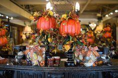 Fall Pumpkins on Black Candlesticks Unique Fall Home Decor – Linly Designs Fall Home Decor, Autumn Home, Home Decor Floral Arrangements, Thanksgiving Decorations, Table Decorations, Interior Decorating, Fall Decorating, Creative Decor, Fall Pumpkins