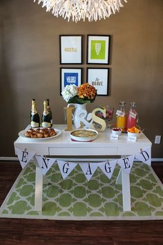 A Brunch Engagement Party Winter Engagement Party, Engagement Brunch, Engagement Party Planning, Engagement Decorations, Engagement Gifts, Engagement Photos, Engagement Parties, Wedding Engagement, Event Planning