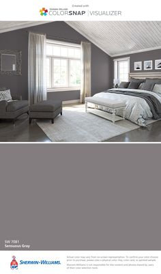 I found this color with ColorSnap® Visualizer for iPhone by Sherwin-Williams: Sensuous Gray (SW 7081).
