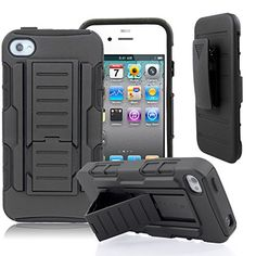 Apple iPhone 4 / 4S Starshop(TM) Hybrid Full Protection High Impact Dual Layer Holster Case with Kickstand and Locking Belt Swivel Clip Black STARSHOP http://www.amazon.com/dp/B00SGCDEX4/ref=cm_sw_r_pi_dp_UxI0ub17X3KPC