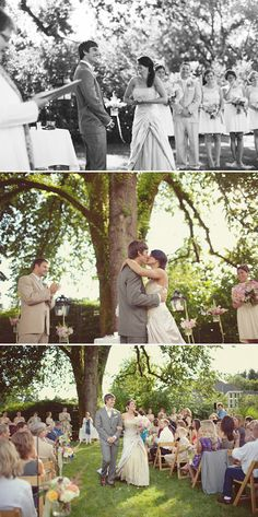 DIY outdoor Seattle wedding, private residence, Woodinville - wedding photos by Seattle-based One Love Photo   Junebug Weddings