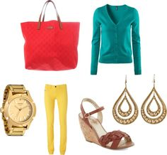 """""""red, gold, yellow"""" by dreamer-dx on Polyvore"""