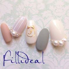 花嫁さん必見!パールをあしらった可愛いネイルcollectionにて紹介している画像 Nail Games, Pearl Earrings, Nail Art, Chic, Nails, Makeup, Nailbook, Jewelry, Design