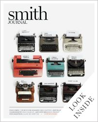 "cover of smith journal. article ""typewriters and the men who loved them."""
