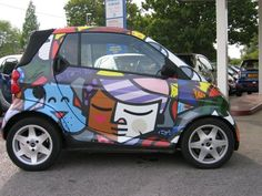 so cool Benz Smart, Smart Car, Baby Cars, Smart Fortwo, Street Smart, Big Love, Car Wrap, Car Stickers, Dream Cars