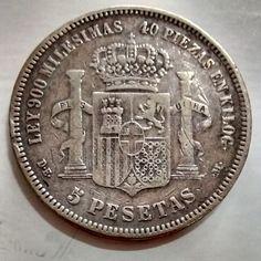 ESPANHA 1871 5 PESETAS MBC ..