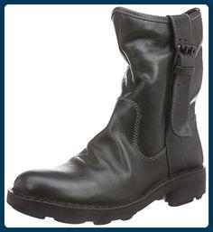 Fly London NOTA, Damen Biker Boots, Schwarz (Diesel 015), 38 EU