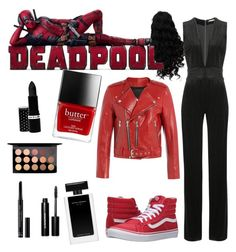 """""""Dead pool"""" by tumblr90sgrunge ❤ liked on Polyvore featuring Balmain, Marc Jacobs, Vans, Hard Candy, MAC Cosmetics, Christian Dior and Bobbi Brown Cosmetics"""