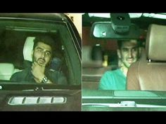 Arjun Kapoor & Aditya Roy Kapoor spotted at Ranbir Kapoor's residence.