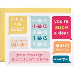 Convo Bubbles A2 Thank You Notes - Paper Source