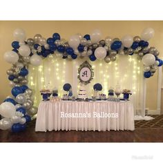 Modelos de decoración Sweet 16 Decorations, Baby Shower Decorations For Boys, Balloon Decorations, Baby Boy 1st Birthday Party, Prince Birthday, Birthday Parties, Baby Shower Balloons, Birthday Balloons, Graduation Party Decor