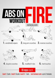 Abs on Fire Workout (core, lower abs, upper abs, obliques, legs) - Windshield w. Abs On Fire Workout, Abs Workout Video, Abs Workout Routines, Ab Workout At Home, Workout Guide, Workout Challenge, At Home Workouts, Neila Rey Workout, Abdo Workout