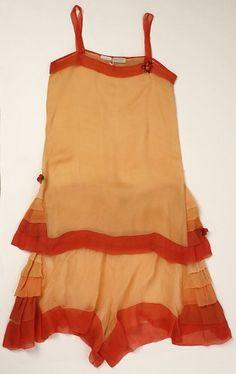 My Era - Lingerie set by Franklin Simon & Co. , 1920s, American, silk, Metropolitan Museum of Art