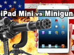 iPad Mini vs Minigun - Tech Assassin - RatedRR: http://www.youtube.com/user/ratedrr
