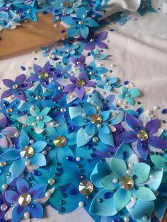 Pandora flowers leotard for rhythmic gymnastics by ALEXARGL