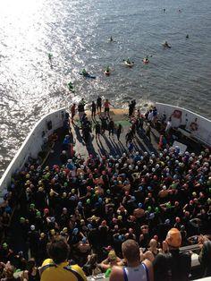 Escape the Cape triathlon 2013 - getting ready to JUMP!