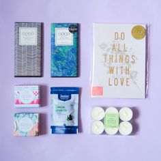 The Bright Year - 12 Months of Surprise Little Presents Little Presents, Surprise Gifts, Subscription Boxes, 12 Months, Kisses, Psychology, Bright, Paper, A Kiss