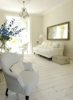 New room decor white wood floors ideas Living Room White, White Rooms, Living Room Paint, My Living Room, Home And Living, Living Room Decor, Cottage Living, White Bedroom, Master Bedroom