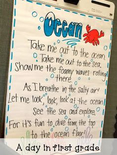 "Stephanie- this is a great song to use when teaching about oceans. Sing it to ""take me out to the ball game"""