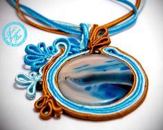 OOAK Soutache statement pendant Blue Dream by @AistesJewelryBox, $39.00