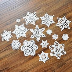 Handcut Paper Snowflakes - Christmas Decorations set of 15