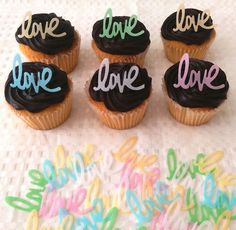 24 Edible Love Wedding Engagement Romance Cupcake Topper Cake Decoration